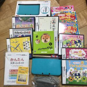 ニンテンドー3DS LL ターコイズ×ブラック+DS 3DS ゲームソフトセット