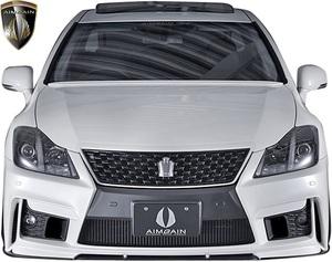 【M's】後期 200系 クラウン アスリート GRS200 (2010.2-2012.12) AIMGAIN 純VIP GT フロントバンパー // FRP エイムゲイン エアロ 外装