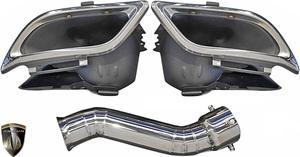 【M's】レクサス 前期 NX F-SPORT NX300h専用 (2014.7-2017.8) AIMGAIN エアロ専用 マフラーフィニッシャー (片側MC付属) エイムゲイン