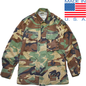 1点物◆実物アメリカ軍BDUウッドランド迷彩柄ミリタリージャケット古着メンズMLレディースOK90sストリートM65米軍放出品ビンテージ879620