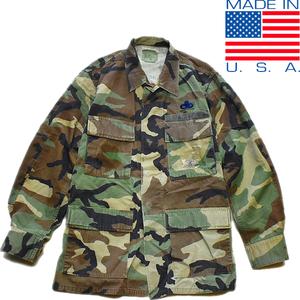 1点物◆実物アメリカ軍BDUウッドランド迷彩柄ミリタリージャケット古着メンズSMレディースOK90sストリートM65米軍放出品ビンテージ879617