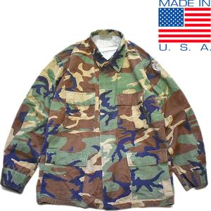 1点物◆実物アメリカ軍BDUウッドランド迷彩柄ミリタリージャケット古着メンズXLレディースOK90sストリートM65米軍放出品ビッグサイズ879622