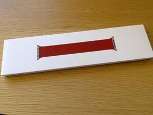 純正 新品 2020版 Apple Watch ブレイデッドソロループ サイズ6 45mm 44mm 42mm ケース用 (PRODUCT)RED Series 1 2 3 4 5 6 7 SE 赤 レッド