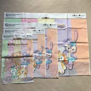 香港ディズニーランド ショップ袋 ダッフィー シェリーメイ ジェラトーニ ステラルー クッキー ショッピングバッグ ショッパー 有料袋 シー
