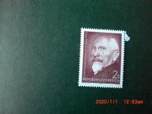 フェルナンド・ハヌーシュ没後50年記念 1種完 未使用 1973年 オーストリア共和国 VF/NH