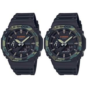 CASIO カシオ Gショック 腕時計 おそろい ペアウォッチ 多機能 防水 アナデジ メンズ レディース 迷彩 ブラック GA-2100SU-1AGA-2100SU-1A