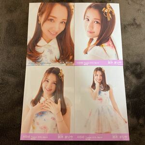 AKB48 福袋当選品 復刻版 2016年 3月 March 月別生写真 4種コンプ 鈴木まりや