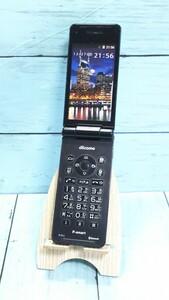 docomo Panasonic P-smart ケータイ P-01J ブラック 本体 白ロム [訳あり] SIMロック解除済み SIMフリー 814578