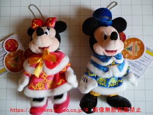 《送料無料》東京ディズニーシー クリスマス2013 ぬいぐるみバッジ ミッキーマウス ミニーマウス 各1 CHRISTMAS WISHES 2013 ぬいば