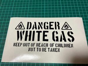 燃料タンクステッカー ホワイトガソリン 2枚組