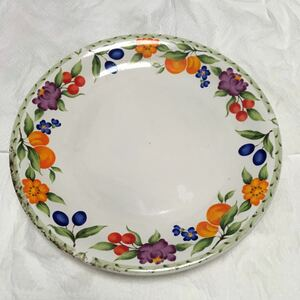 果実紋 ベリー さくらんぼ 柿 花柄 花紋 皿 中皿 デザートプレート