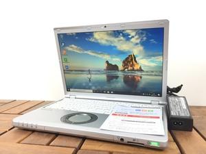 1円~高解像度 WUXGA/Windows10/office搭載/カメラ搭載【Panasonic パナソニック/Let'snote CF-SZ5】Core i5-6300U/メモリ4GB/M.2 SSD128GB