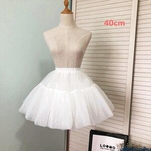 ロリータ パニエ 骨なし ボリューム ミニスカート レディース 丈40cm ホワイト かわいい ロリィタ 姫 コスチューム 衣装 メイド服 コスプレ