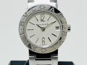 BVLGARI ブルガリブルガリ SS ステンレススチール BB23SS クォーツ 白文字盤 デイト 腕時計