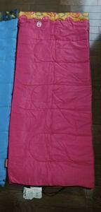 ☆中古☆コールマン 子ども用寝袋 キャンプ、150.ピンク、袋破れあり