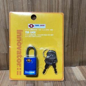 AB-837 [保管品] TSAロック TRVEL SENTRY APPROVED 南京錠 innovator スーツケースセキュリティ