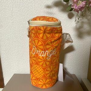 オレンジ 保冷 保温 ボトルホルダー ペットボトルカバー