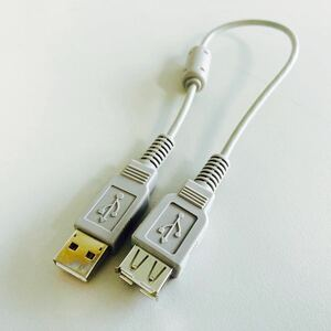 USB 延長ケーブル (A-Aメス) アダプタ 30cm