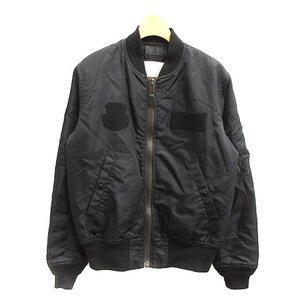フェローズ PHERROWS PHERROW'S フライトジャケット ブルゾン アウター ジップアップ 中綿 M 黒 ブラック /NT18