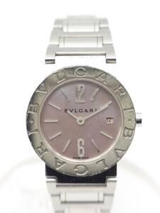 ■本物!! USED ブルガリブルガリ BB26SS クォーツ レディース時計 ピンクシェル文字盤《G-138》
