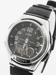 ■CASIO 多機能 メンズ 腕時計 AQ-180W 3針 アラーム クロノ タイマー 《G-239》