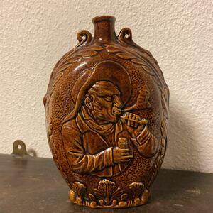 イギリス アンティーク 陶器 瓶 釉 古玩 古美術 骨董フランス 花瓶 お皿 什器 ディスプレイ