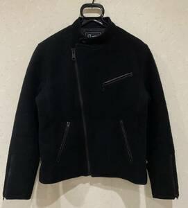 ※フェローズ PHERROW'S レザーパイピング 裏キルティング ウール混 ライダースジャケット日本製 40   BJBA.A