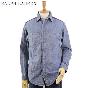 新品 アウトレット 1711 Mサイズ 長袖 シャンブレーワーク ネイティブ ボタンダウン シャツ polo ralph lauren ポロ ラルフ ローレン