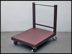 △美品! 手押し台車 台面木製 運搬/運搬車/荷運び/手押台車