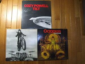 『ヤフオクで応援』盤質新品同様 LP Cozy Powellコージー・パウエル  国内盤 LPレコード 3枚 歌詞カード ソロアルバム