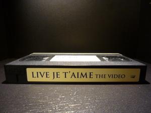 редкий LIVE JE T'AIME Live VIDEO VHS лед сверху .... весна . рисовое поле средний ..