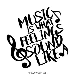 ゆうパケット送料無料 MUSIC IS WHAT FEELINGS SOUND LIKE オリジナル カッティング ステッカー 切り文字 HIPHOP レゲエ POP ユーロ R&B