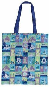 ディズニーリゾート ショッピングバッグ パーク柄 エコバッグ 買い物袋 お買い物バッグ 小さく畳める ミッキー 縦約42×横約38cm土産袋付