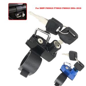 Mz1929:2つのキー オートバイヘルメットロックマウント フック側 盗難防止 セキュリティ