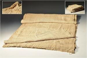 U07507 rare lotus thread stole Lotus silk Cross fabric large size stole /JO