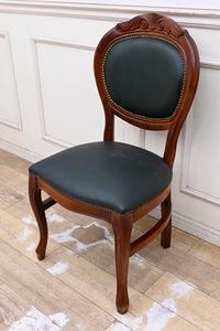 BC07 イタリア製 ロココ調 クラシック ダイニングチェア デスクチェア 食卓椅子 猫脚 応接椅子 机椅子