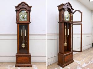 C225 機械式 木製 ゼンマイ式 ホールクロック グランドファーザークロック 置き時計 フロア時計 引き取り大歓迎