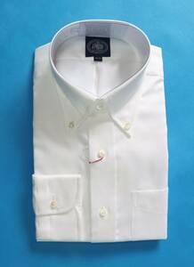 ★J.PRESS★長袖ボタンダウンシャツ(サイズ39-84、形態安定、日本製、ホワイト)新品