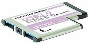 玄人志向 NEXTシリーズ ExpressCard/54接続 USB3.0増設インターフェースカード USB3.0-EC54-P