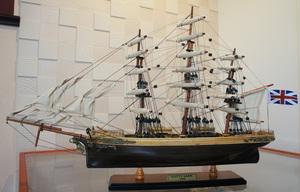 ●新品特価 豪華な帆船 カテイサーク55㎝L木目調完成品