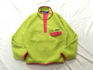 美品◎USA製 Patagonia ビンテージ パタゴニア スナップT S レアカラー アップルグリーン フリースジャケット