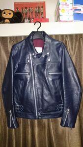 アンダーカバー ダブル ライダース ジャケット M9205 ネイビー 1 美品