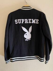 Supreme × PLAYBOY Varsity Jacket Black L バーシティジャケット スタジャン プレイボーイ