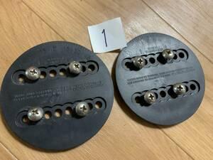 ★ 1 メーカー不明 4×4 4x4 外径108mm バインディング ディスク プレート 2枚 検 BURTON バートン シムス SIMS ビンテージ