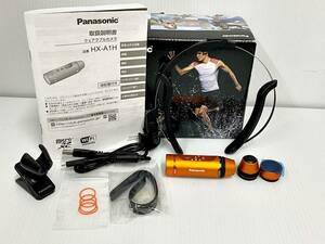 【W3336】 美品 パナソニック ウェアラブルカメラ オレンジ HX-A1H-D 別売品 クリップマウントVW-CLA100付属