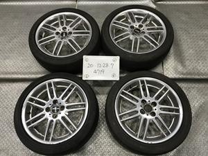 ★RE16 BMW ミニ R53 純正 BBS メッキ 17インチ アルミ ホイール 4本 7J +48 PCD100 4穴 ハブ径56 タイヤ 205/45ZR17★