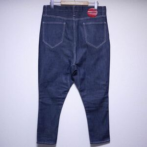 美品 PHENOMENON サルエルパンツ Size 32 フェノメノン Saruel Pants Denim デニム Indigo インディゴ 濃紺 シルバーステッチ ILLPTS-134