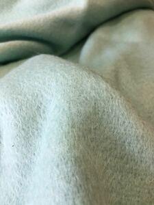 生地 ハギレ はぎれ ウール シャギー ミントグリーン 黄緑 起毛 30cm