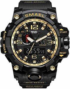 ○□▼腕時計 メンズ SMAEL腕時計 メンズウォッチ 防水 スポーツウォッチ アナログ表示 デジタル クオーツ腕時計 多機能