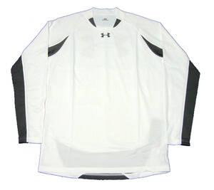 アンダーアーマー 長袖シャツ アンダーシャツ インナーシャツ ヒートギア ルーズ MSC4254 ホワイト Lサイズ 新品
